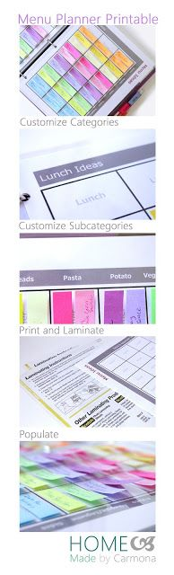 THE MOST THOROUGH, EASIEST, AND HEALTHIEST MENU PLANNER!!!! includes templates and downloadable word files for editing!