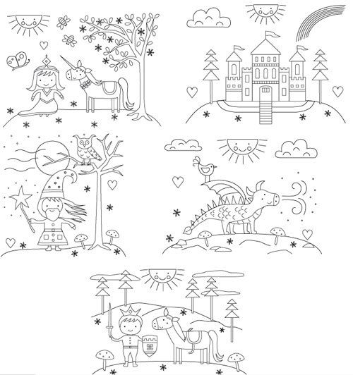 more cute embroidery patterns