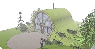 Concept steel arch underground home quonset hut for Earth sheltered home kits