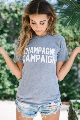 Private Party 2016    Champagne Campaign tee in grey
