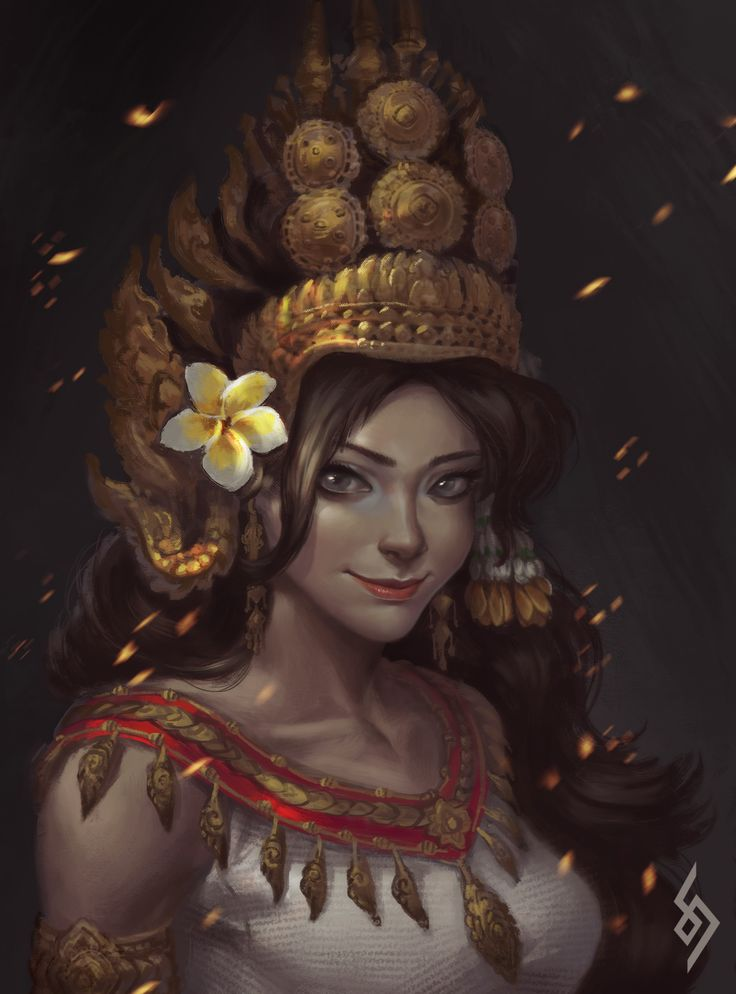 ArtStation - Apsara, Daro Sam   Thai art, Cambodian art ...