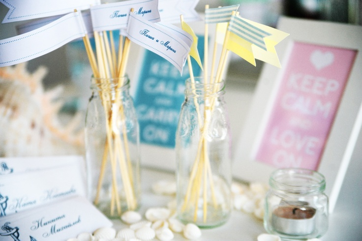wedding decor with little flags...such a nice flags #flags