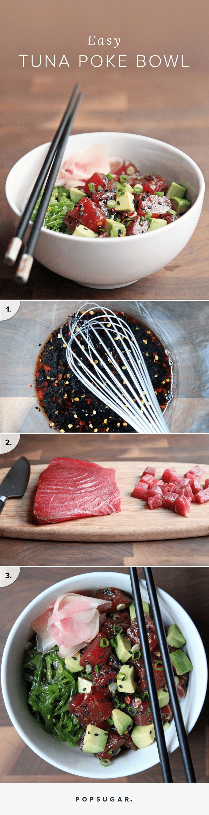 easy tuna poke bowl