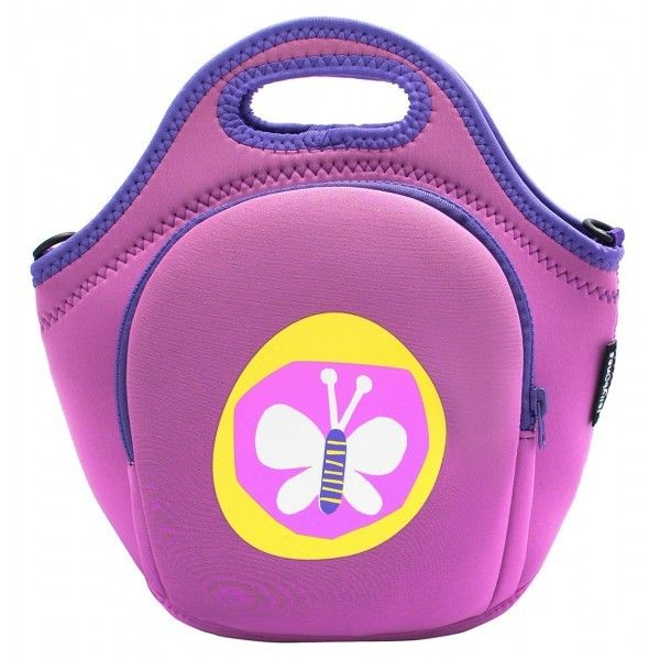 Butterfly Neoprene Lunch Bag with Strap