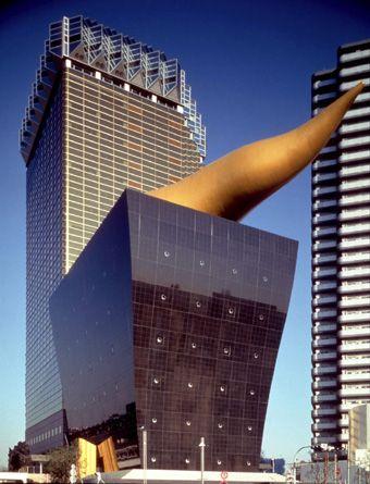 Asahi Beer Hall, Asahi Headquarter, Tokyo designed by Philippe Starck ::  1990