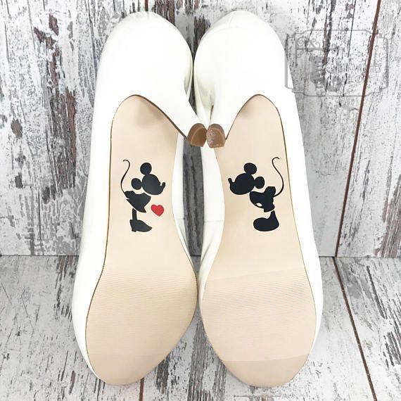 Mickey and Minnie Disney Princess Wedding Day Shoe Sole Decal Sticker