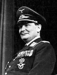 Hermann Goering, a World War One flying ace, was the highest-ranking Nazi official to go on trial at Nuremberg. A member of the Nazi Party from its earliest days, he founded the Gestapo in 1933, helped create the concentration camp system and was commander-in-chief of the Luftwaffe (the German Air Force), ultimately becoming Hitler's second in command.