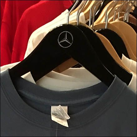 Branded T-Shirts are not that unusual at Mercedes Benz and elsewhere. But take…