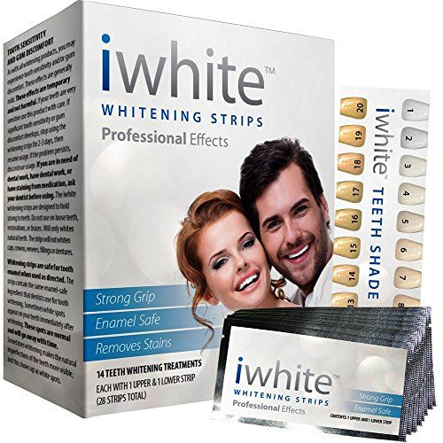 Teeth Whitening Strips Teeth Bleaching System - Professional At Home Teeth Whitening Strips - 28 Count - Instant Results!  iWhite Professional At Home Teeth Whitening Bleaching System Uses The Same Formula as Leading Dentist Worldwide From the Comfort of Your Own Home!  Immediate Results - You will begin Seeing Results after Just the First Use!  Removes Years' Worth of Stains - iWhite Removes Even the Toughest Stains Such As Coffee and Tea  Easy To Use - Follow the Simple and Easy 3 St...