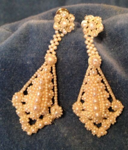 Lovely Georgian seed pearl dangles