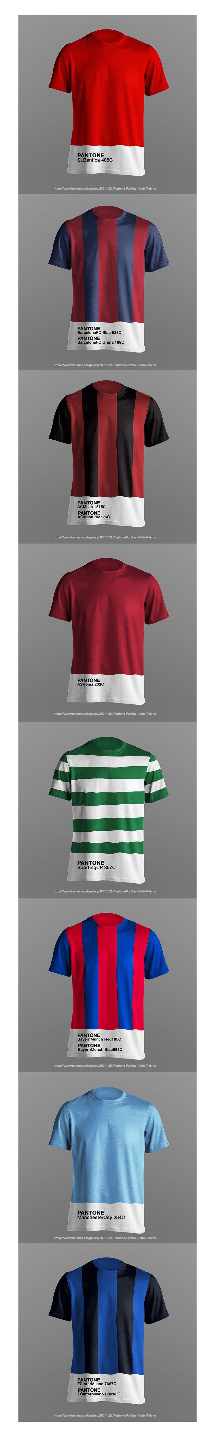 Imagine if Pantone Color Brand could make the new football club t-shirt.  #Football #Soccer #Barcelona #BayernMunch #Benfica #Pantone #pantonecolors #color #colours #messi #robben