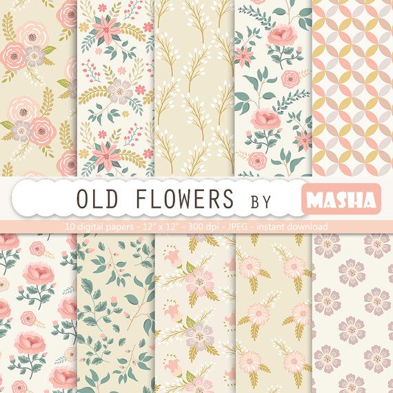 Check out this item in my Etsy shop https://www.etsy.com/listing/260872438/floral-digital-paper-old-flowers-vintage