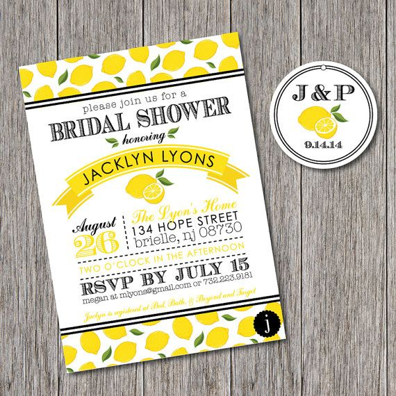 Lemon Themed Printable Bridal Shower By JalapenoPaperBtq