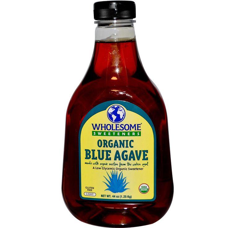 Wholesome Sweeteners, Inc., Organic Blue Agave, Light, 44 oz (1.25 kg)