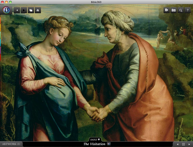 The Visitation.  Bible360 is a free interactive socially-enabled app that brings the scripture to life through video, photos, maps, virtual tours, reading plans and more! Download it for FREE, www.bible360.com
