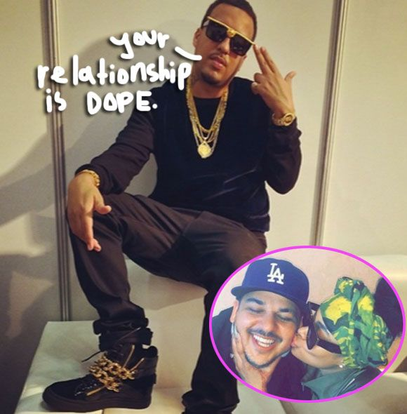French Montana Is Totally On Board With Rob Kardashian's Relationship With Blac Chyna: 'I Love The Energy' by Perez Hilton  #Entertainment