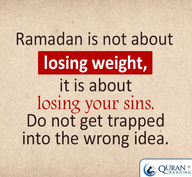 Ramadhan: not about losing weight