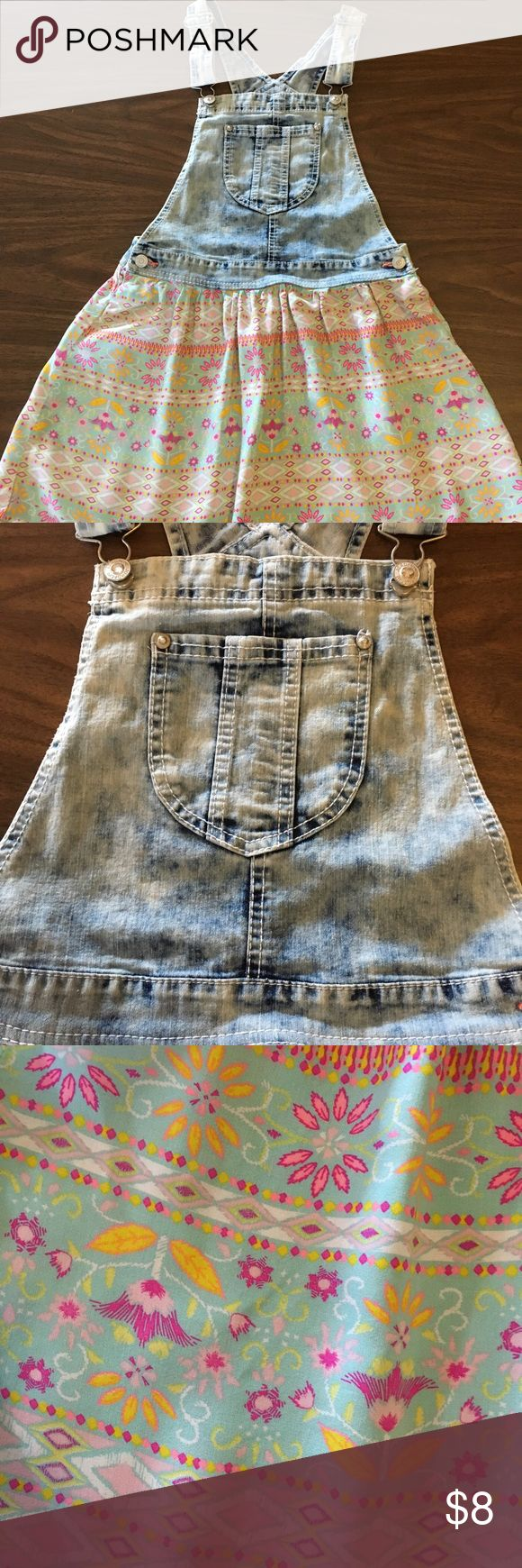 Girls denim overall dress Cute girls dress! Perfect for school paired with t-shirt underneath. (See other t-shirt post) top is denim overall and bottom is flowy skirt with Pom-pom edging. Jordache Dresses Casual