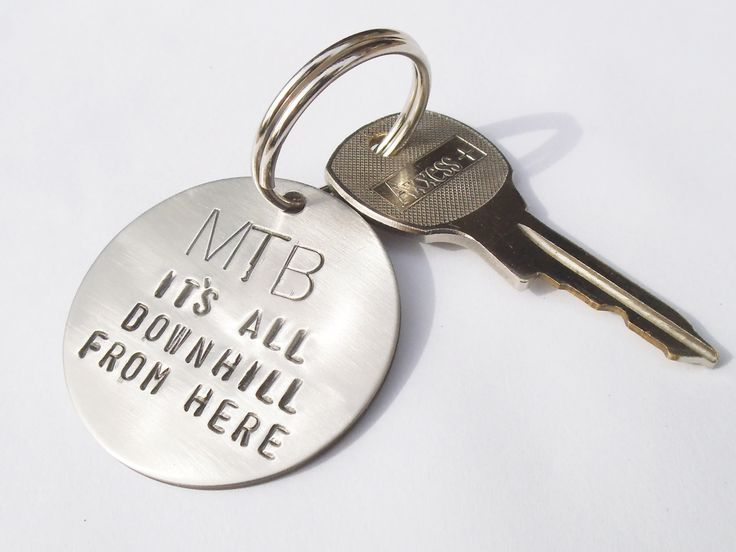 Mountain Bike Gift Husband Keychain for Bike Rider Downhill Mountain Biker Keyring Men Colorado Bike Gift Cycling Lover MTB Accessory Son by CandTCustomLures on Etsy