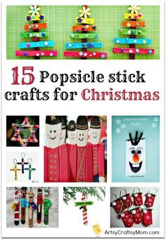 15 Popsicle stick crafts for Christmas - Crafting plain popsticks, also called craft sticks, into hand made ornaments is a fun project for our entire family.  Also called Lolly Sticks, Icecream sticks , these are easy to use, can be a fun way to recycle & also Frugal.