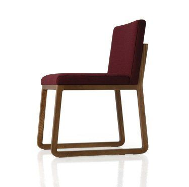 UFL Group // Midori A family of timber chairs perfect for any space The Midori family includes a chair, armchair, lounge chair and barstool (available in two heights) The open grain of the ash gives warmness and originality to its structure, solid and sober Stained in a wide range of colours, the final piece keeps all the freshness of the solid wood Available upholstered in a wide range of house fabrics and leathers or customer supplied material  Dimensions: 480W x 580D x 780H Seat 450H