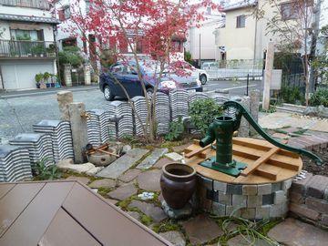 古瓦のオブジェ塀の外構 大阪・堺「アーテック・にしかわ」一級建築士