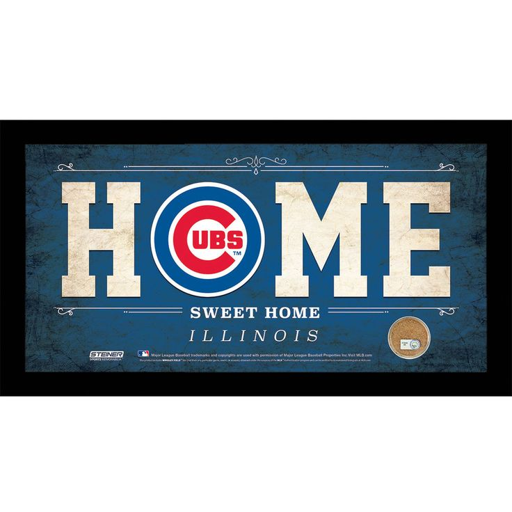 Chicago Cubs 10x20 Home Sweet Home Sign with Game-Used Dirt from Chicago Cubs