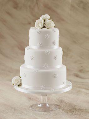 snow flake wedding cake