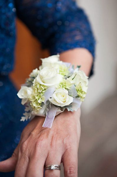 Mother Of The Bride Hydrangea Corsage | Pauleenanne Design | LaLee Photography