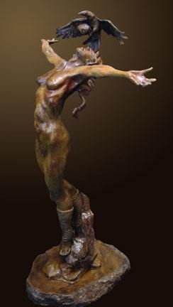 """Manumit"" by Renzo Bronze Sculpture Edition Size: 55 SN Size: 35""h x 23""w x 16""d"
