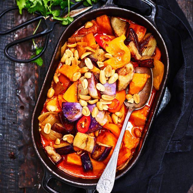 Servera gärna ris till den här vegetariska grytan. Tips: äter man kött passar den väldigt bra ihop med detta recept på jerk chicken.