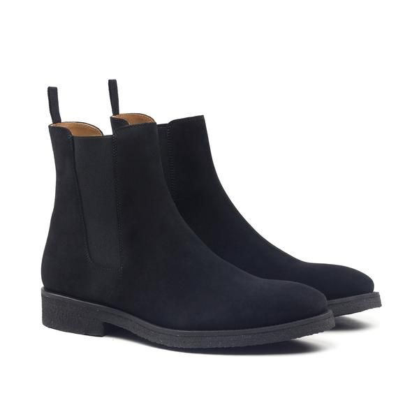 THE JET BLACK CREPE CHELSEA BOOTS | ORO Los Angeles