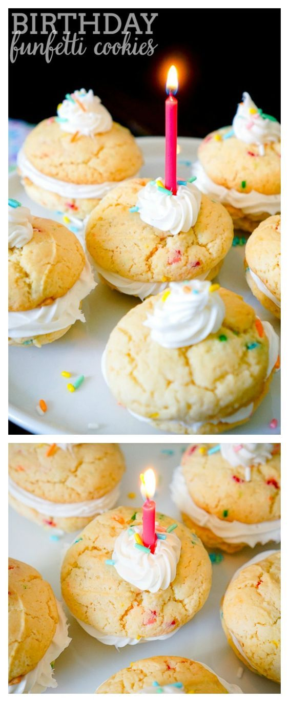 Birthday Funfetti Cookies - Delicious cookie recipe that only takes 4 ingredients! Plus, it's a fun kid friendly recipe for a fun day baking! | The Love Nerds #ad #MixUpAMoment
