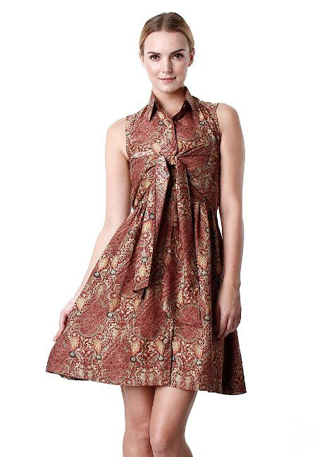 Model Baju Kerja Batik Lampung