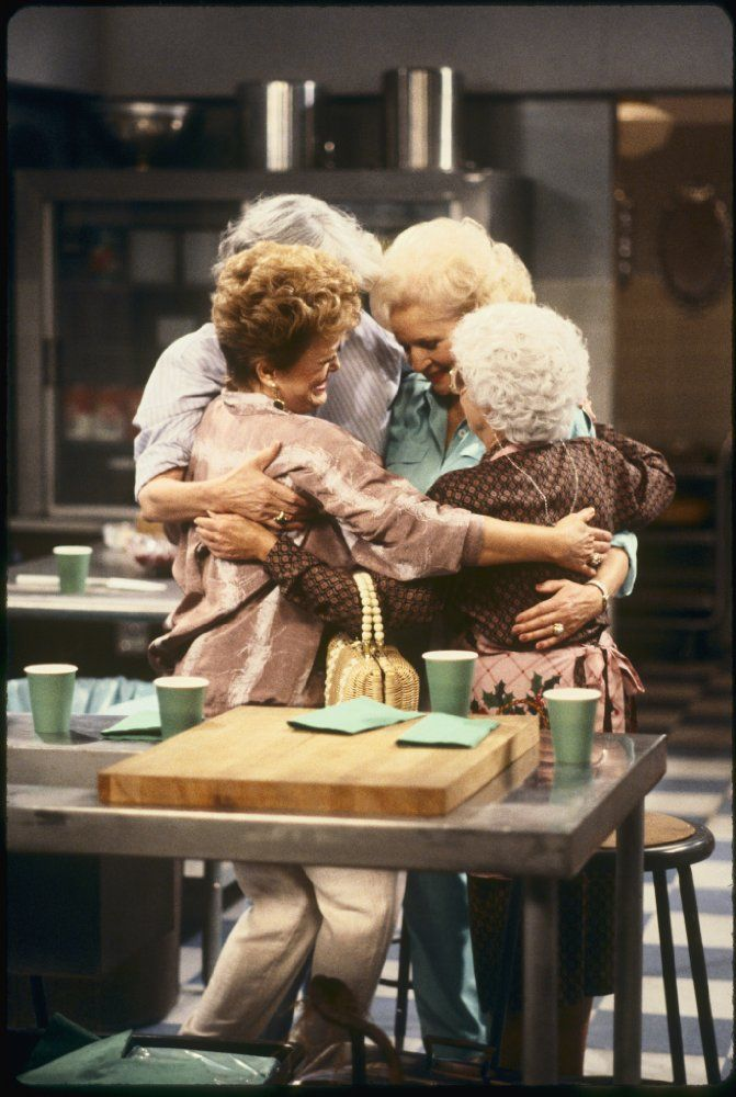 Estelle Getty, Rue McClanahan, Bea Arthur, and Betty White in The Golden Girls (1985)