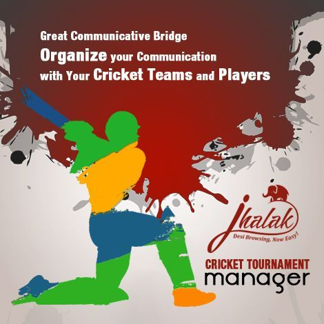 Ideas for Sports -USA Indians http://cricket.jhalak.com -Jhalak- Match results Entry page – displays the match list as per calendar - Recent First It will give you the power to update and post your live tournament results quickly and easily. Score Entry – First Form: Toss Winner, Toss Decisions, Home _ away  Teams and Players appear automatically – Players according to Team Manager's Finalized Player list Cricket Scoring Software with Cricket Full Score Card Down loader form user interface