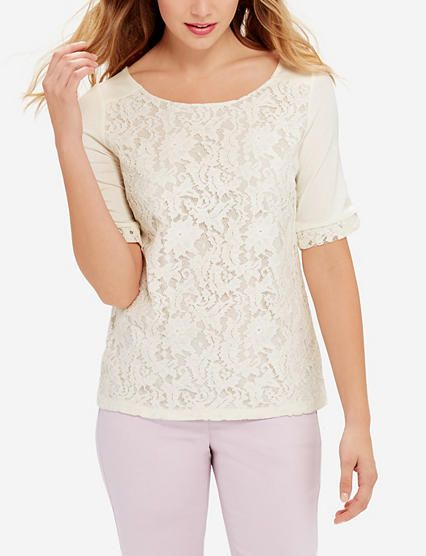 The Lace Harper Top from THELIMITED.com