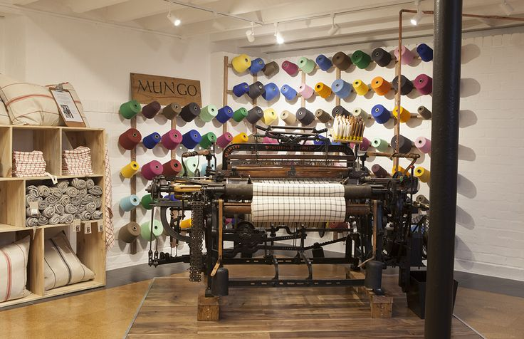 Anitque loom | Hattersley Domestic loom at the Mungo inner city Mico- Mill