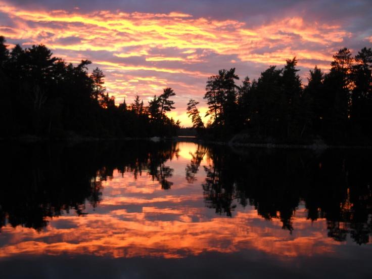Sunset on: Temagami Lake, Ontario