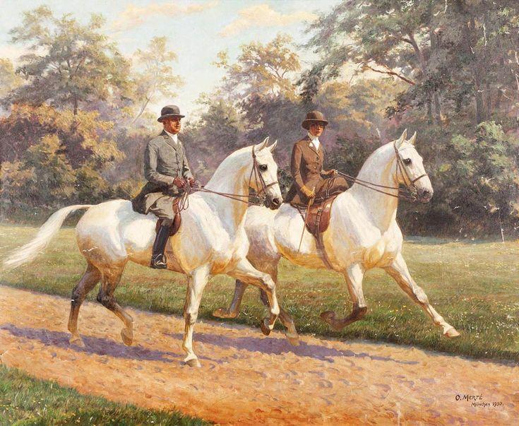 Oskar Merte (1873-1938). Untitled (Equestrian Scene)