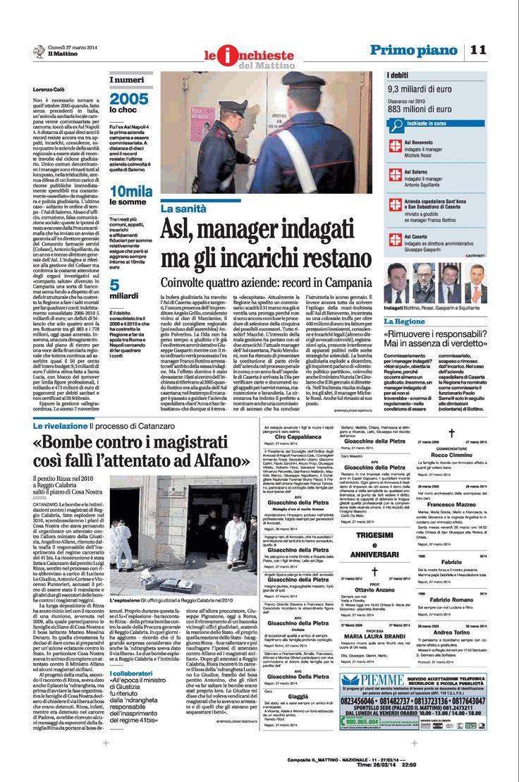 Asl, manager indagati - Record in Campania