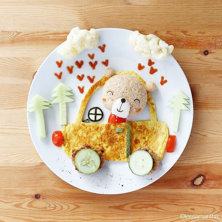 It's a beary lovely day, don't let it get away! ☀ #leesamantha #foodart #love