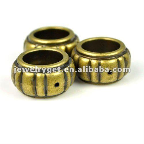 10 шт./пакет, ЦКБ Пе античная бронза дизайн крупные кольца ювелирные изделия шарф слайд аксессуары, pt-635 для нее