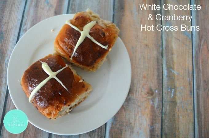 Since making Hot Cross Buns in my Thermomix, I've been having a little fun experimenting with different flavours. So far these White Chocolate and Cranberry Hot Cross Buns are up there with being the most delicious Hot Cross Buns I have ever tasted - a big call I know!