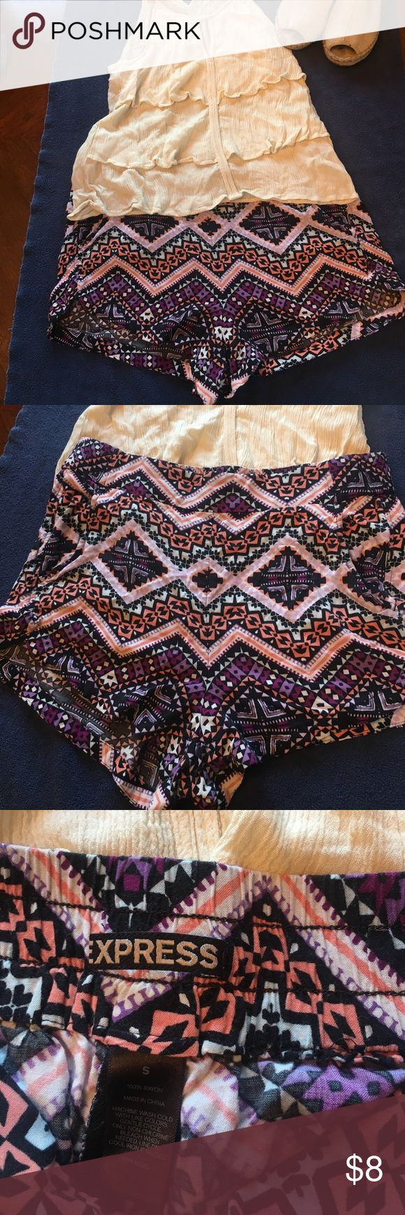 Express Aztec print Shorts Cute Express Aztec print Shorts  Size: Small Condition: Used No Holes No Tears Express Shorts