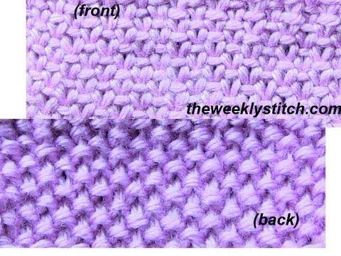 Knitting - Linen Stitch