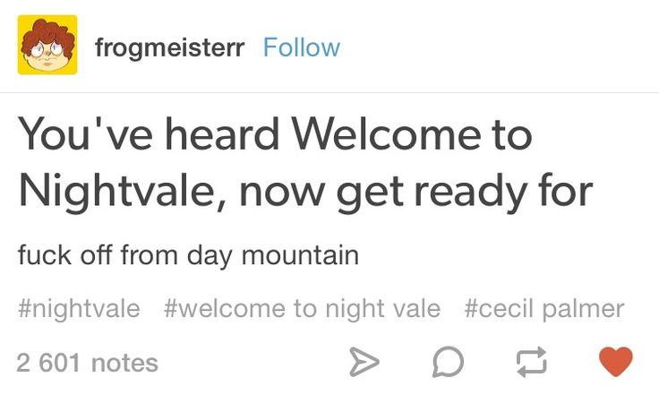 Welcome to Night Vale meme Tumblr post