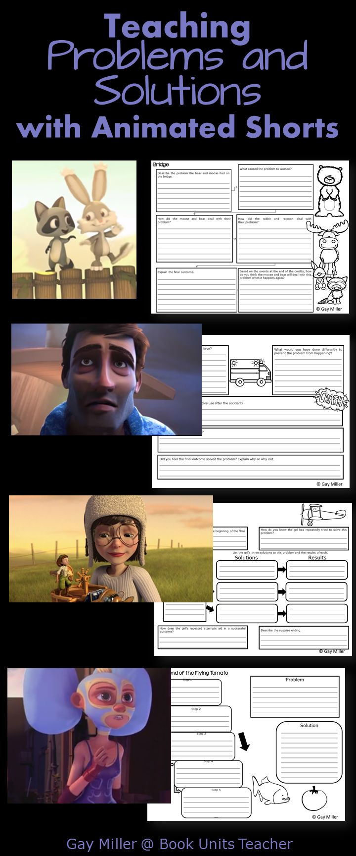 Using Animated Shorts to Teach Problems and Solutions