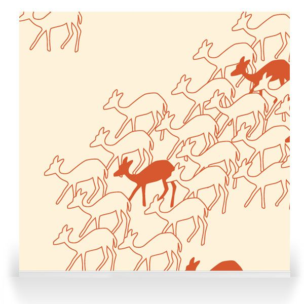 Skinny laMinx - Robin Sprong Surface Designer. Duikers Red Aloe.