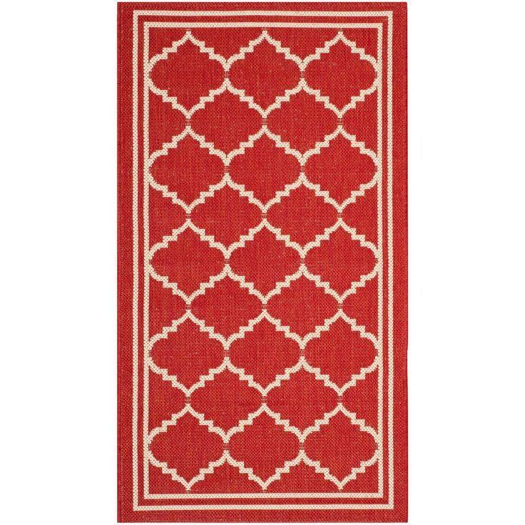 Safavieh Courtyard Red Beige 3 Ft X 5 Ft Indoor Outdoor Area Rug Teppich Ideen Outdoor Teppich Teppich Teppich Ideen